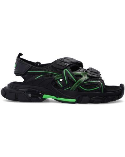 Sandały skórzane - czarne Balenciaga
