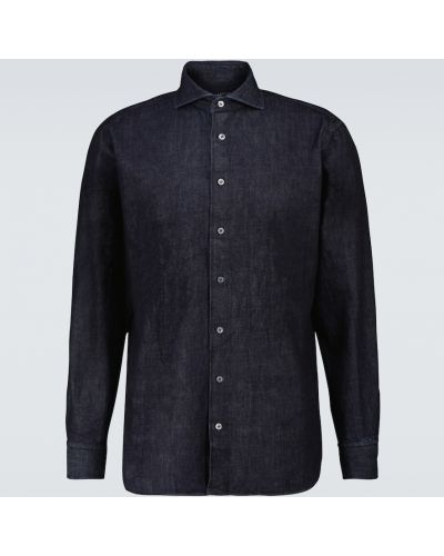 Niebieska koszula casual Lardini