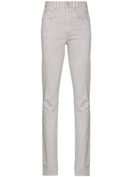 Bawełna światło bawełna jeansy na wysokości chudy Isabel Marant