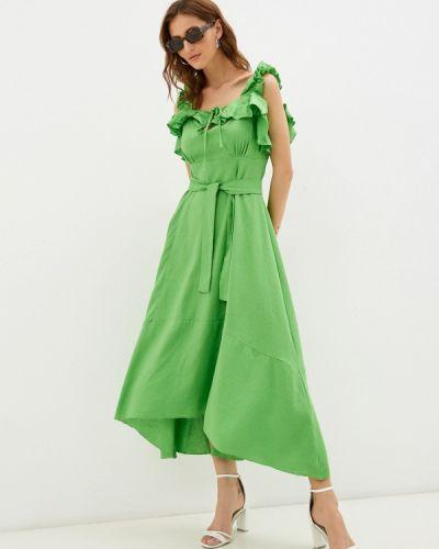 Зеленое платье осеннее Imocean