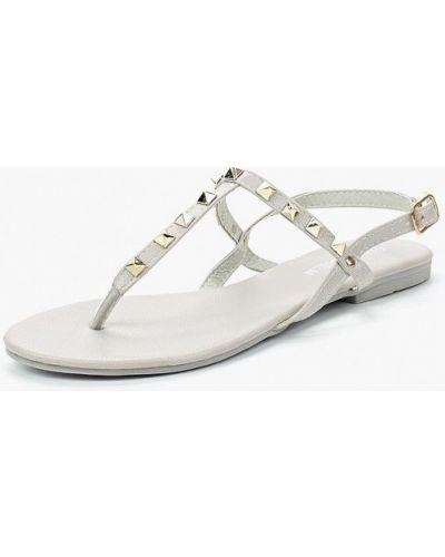Серые кожаные сандалии Malien