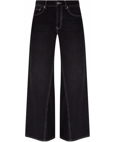 Широкие джинсы расклешенные черные Ganni