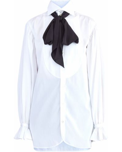 Блузка с воротником-стойкой на резинке Polo Ralph Lauren