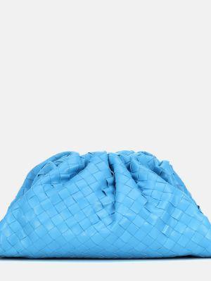 Кожаная сумка среднего размера синий Bottega Veneta