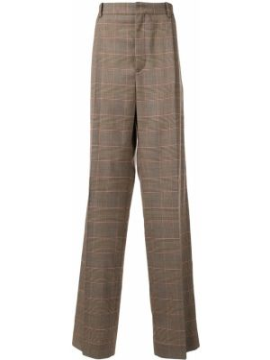 Klasyczne brązowe spodnie klasyczne wełniane Botter