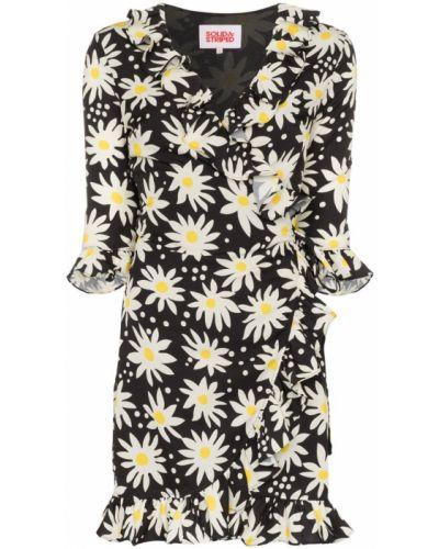 Платье мини в полоску с цветочным принтом Solid & Striped