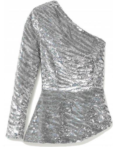 Блузка с пайетками из вискозы на крючках Retrofete