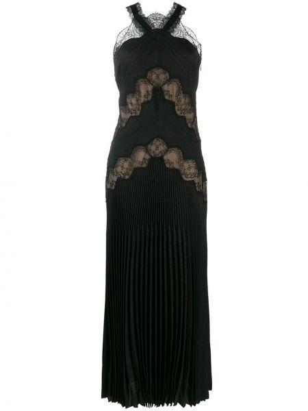 Платье миди со вставками черное Fendi