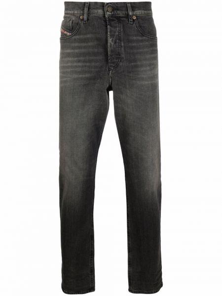 Хлопковые серые зауженные джинсы с накладными карманами Diesel