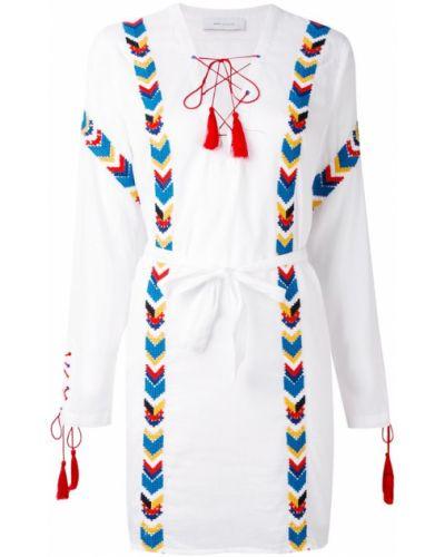Платье хлопковое с кисточками Ash