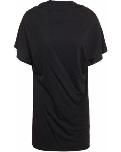 Трикотажная черная футболка стрейч Paul Smith