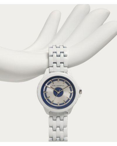 Biały zegarek kwarcowy Karl Lagerfeld