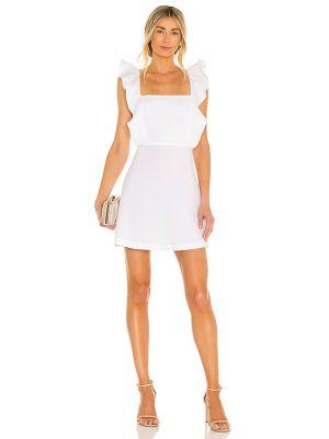Белое вечернее платье на молнии с американской проймой Bcbgeneration