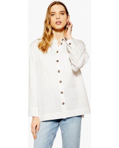 Блузка с длинным рукавом индийский белый Topshop