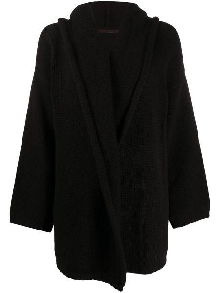 Кашемировый классический черный кардиган в рубчик Incentive! Cashmere