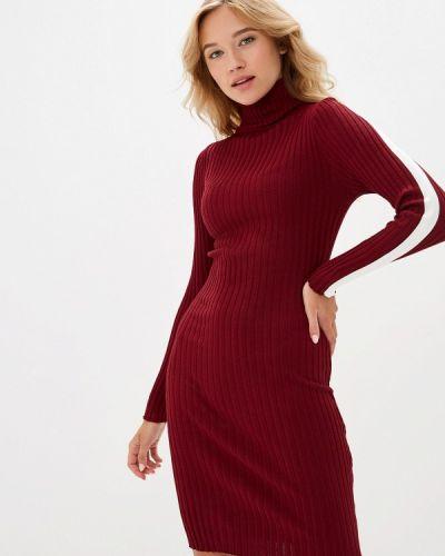 Платье бордовый вязаное Liana