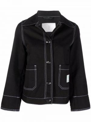 Хлопковая джинсовая куртка - черная SociÉtÉ Anonyme