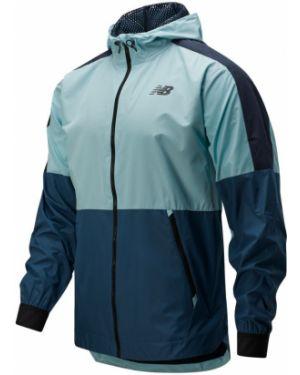 Спортивная оранжевая облегченная спортивная куртка New Balance