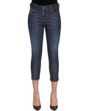 Укороченные джинсы на пуговицах Dsquared2