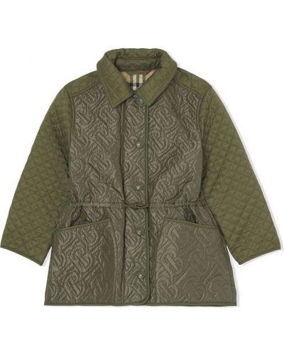 Zielona klasyczna kurtka Burberry Kids