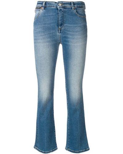Укороченные джинсы синие на пуговицах Acynetic