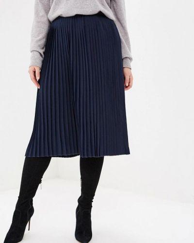 Плиссированная юбка синяя Ostin