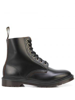 Ботильоны на каблуке - черные Dr. Martens