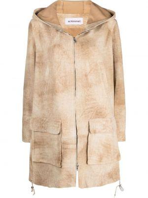 Кожаная куртка с капюшоном на молнии Sylvie Schimmel