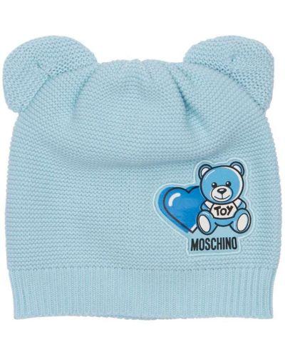 Bawełna bawełna niebieski kapelusz Moschino