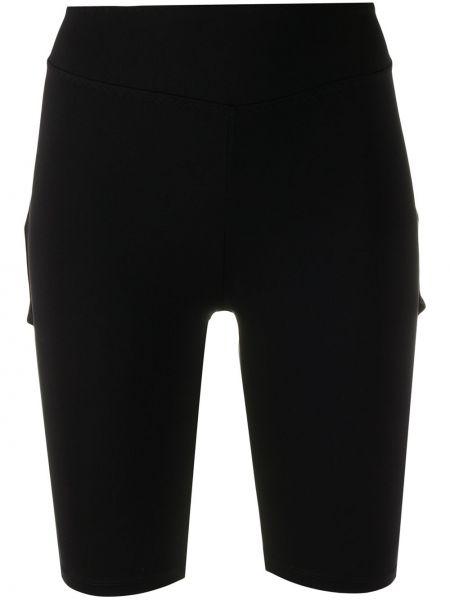 Однобортные черные шорты Sàpopa