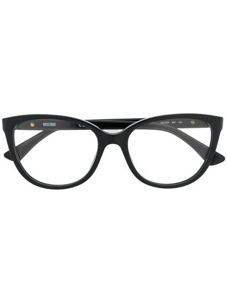 Черные очки круглые Moschino Eyewear