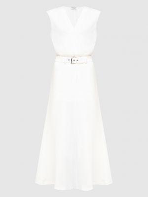 Бежевое платье макси Brunello Cucinelli