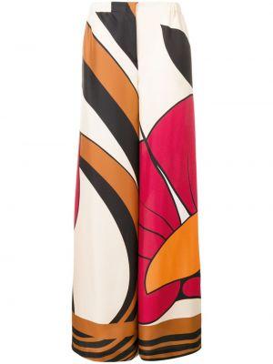 Шелковые брюки с поясом свободного кроя Alberta Ferretti