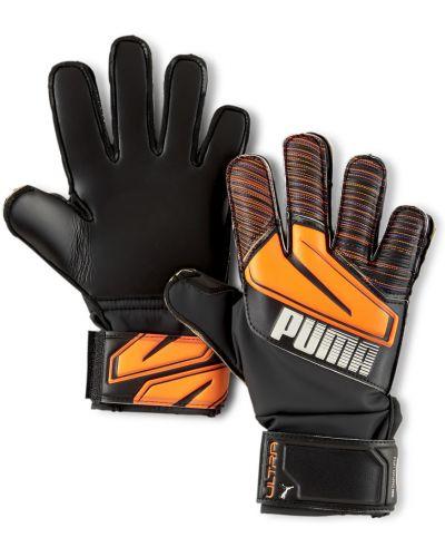 С ремешком оранжевые футбольные перчатки латексные Puma