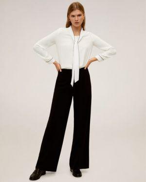 Блузка с длинным рукавом с завязками с декольте Mango