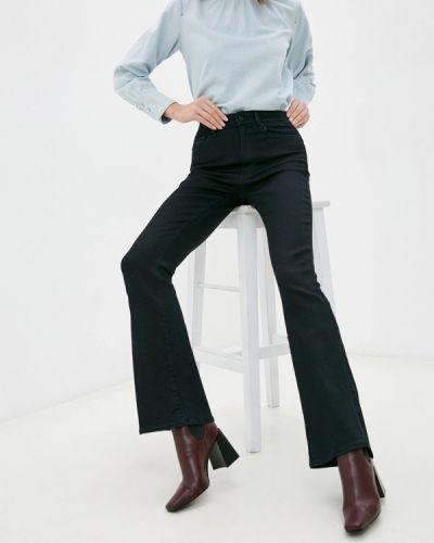Черные расклешенные широкие джинсы G-star
