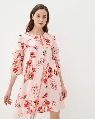 Платье розовое прямое Yuna Style