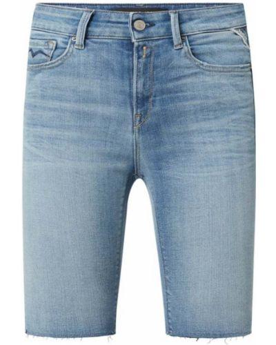 Niebieskie bermudy jeansowe bawełniane Replay