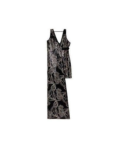 Вечернее платье из вискозы черное Patrizia Pepe
