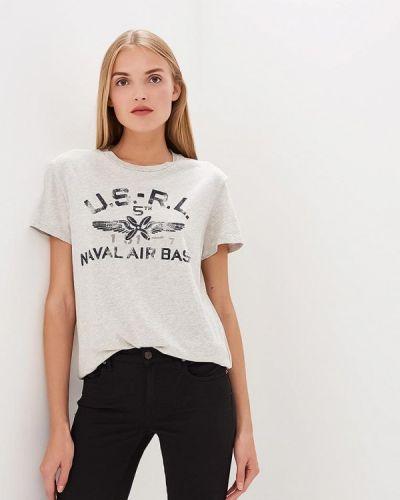 Серая футболка с короткими рукавами Polo Ralph Lauren