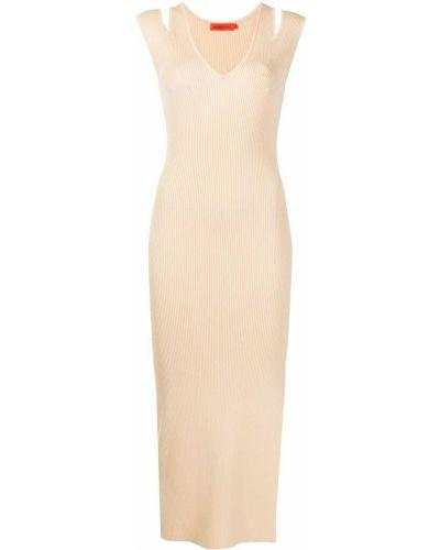 Трикотажное платье миди - оранжевое Manning Cartell
