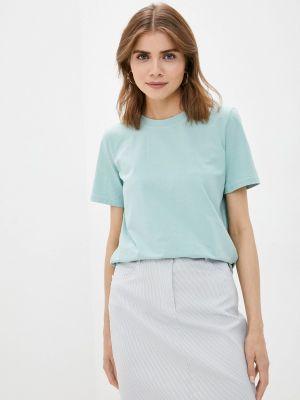 Бирюзовая футболка с короткими рукавами Anastasya Barsukova