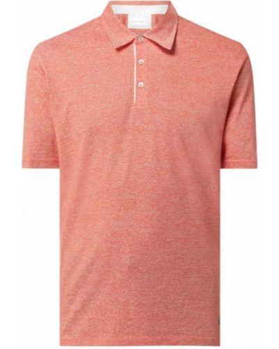 Pomarańczowy t-shirt bawełniany Baldessarini
