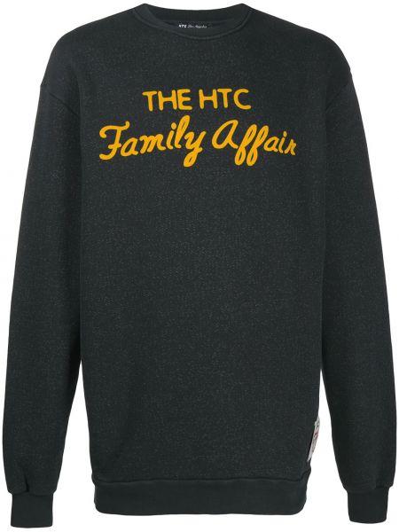 Czarna bluza z długimi rękawami bawełniana Htc Los Angeles