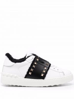 Białe sneakersy skorzane Valentino Garavani