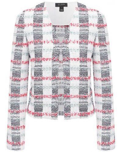 Мерцающий пиджак твидовый в клетку на торжество St. John
