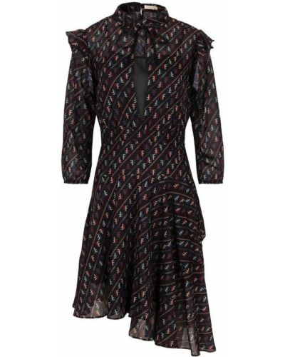Czarna sukienka asymetryczna na co dzień Fracomina