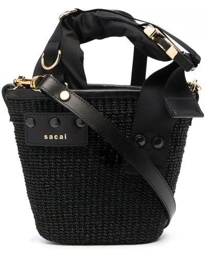 Złota czarna torebka Sacai