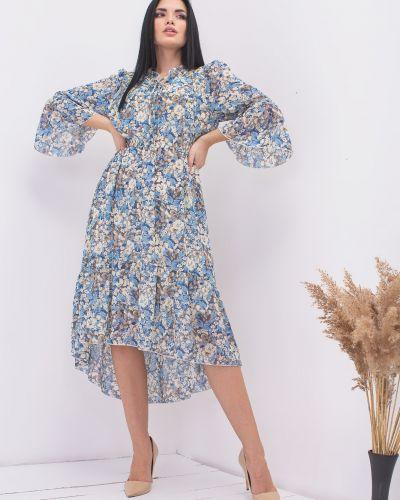 Шифоновое нарядное платье в цветочный принт Rozetka
