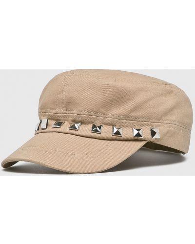 Бежевая шапка хлопковая Answear